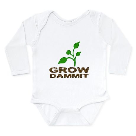 Grow Dammit Long Sleeve Infant Bodysuit