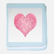 Red Hot Heart Infant Blanket