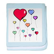Balloon Hearts Infant Blanket