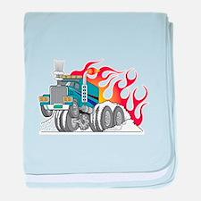 Hot Rod (Flames) 18 Wheeler T Infant Blanket