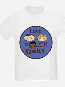 African/Caucasian BOY Love Makes a Family T-Shirt