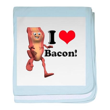 I Heart (Love) Bacon Infant Blanket