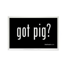 Got Pig Rectangle Magnet
