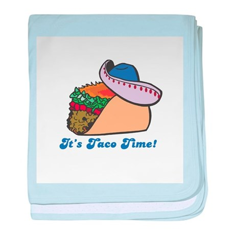 Taco Time (Taco with Sombrero Infant Blanket