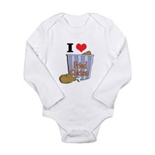 I Heart (Love) Fried Chicken Long Sleeve Infant Bo