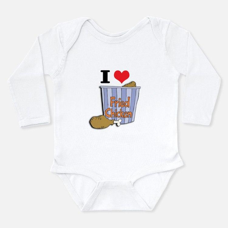 I Heart (Love) Fried Chicken Long Sleeve Infant Bo