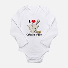 I Heart (Love) Chinese Food Long Sleeve Infant Bod