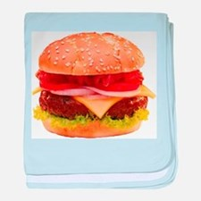 yummy cheeseburger photo baby blanket