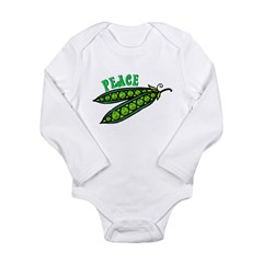Peas (Peace) Long Sleeve Infant Bodysuit