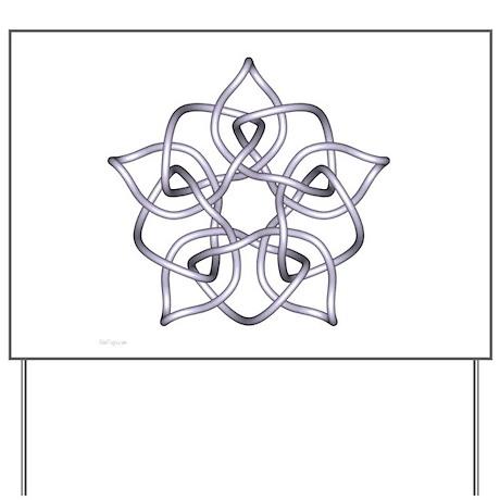 Silver Pentagram Yard Sign