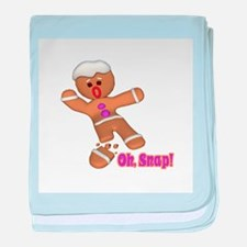 Oh Snap Gingerbread Cookie Infant Blanket