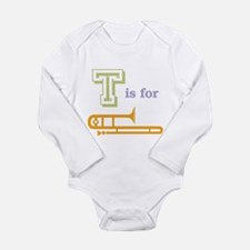 Tis for Trombone Long Sleeve Infant Bodysuit