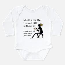 Music Is My Life Long Sleeve Infant Bodysuit