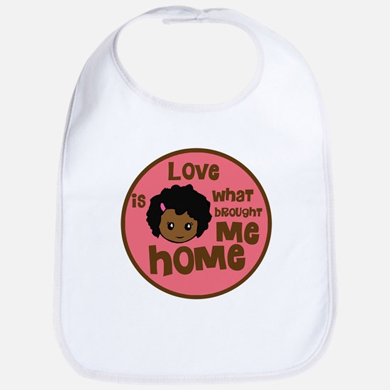 African Girl Love Brought Me Home Bib