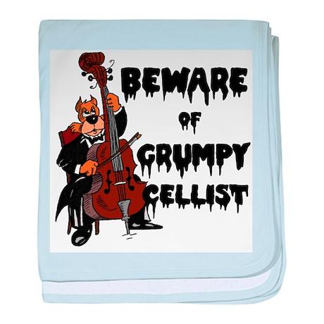 Grumpy Cellist Infant Blanket