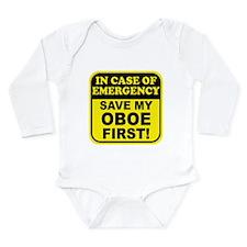 Save My Oboe Long Sleeve Infant Bodysuit