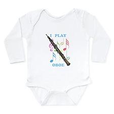I Play Oboe Long Sleeve Infant Bodysuit