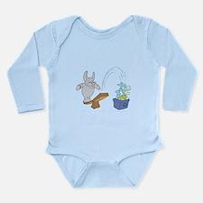 Elephant Recycling Long Sleeve Infant Bodysuit