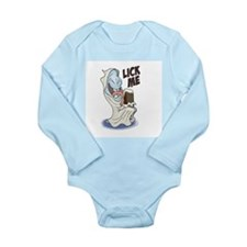 Lick Me Ghost Long Sleeve Infant Bodysuit