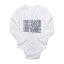 Romeo & Juliet Rose Quote Long Sleeve Infant Bodys