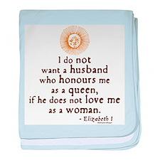 Elizabeth Marriage Quote Infant Blanket