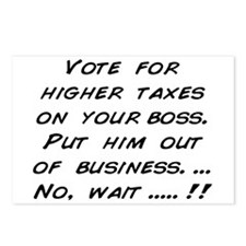 Vote for higher taxes on your Postcards (Package o
