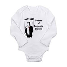 Beware of Corporate Puppets Long Sleeve Infant Bod