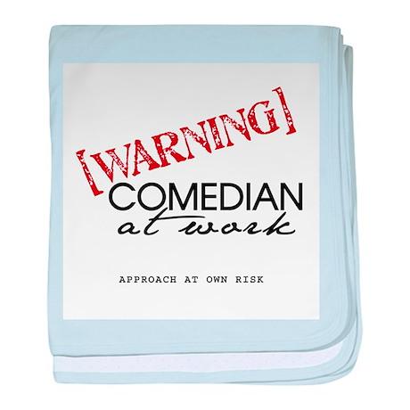 Warning: Comedian Infant Blanket