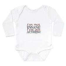Insane actress Long Sleeve Infant Bodysuit