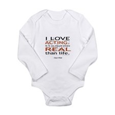 Oscar Wilde Quote on Acting Long Sleeve Infant Bod