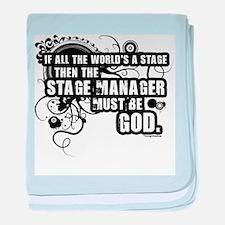 Grunge Stage Manager Infant Blanket