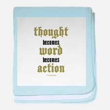 Thought, Word, Action Infant Blanket