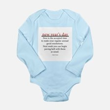 New Year's Day Long Sleeve Infant Bodysuit