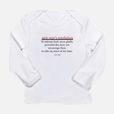 New Year's Resolution Long Sleeve Infant T-Shirt