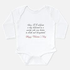 Martyr Valentine Long Sleeve Infant Bodysuit