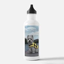 Truman at the Lake Water Bottle