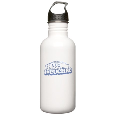 70s I Love Euchre Stainless Water Bottle 1.0L