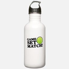 Game Set Match Sports Water Bottle