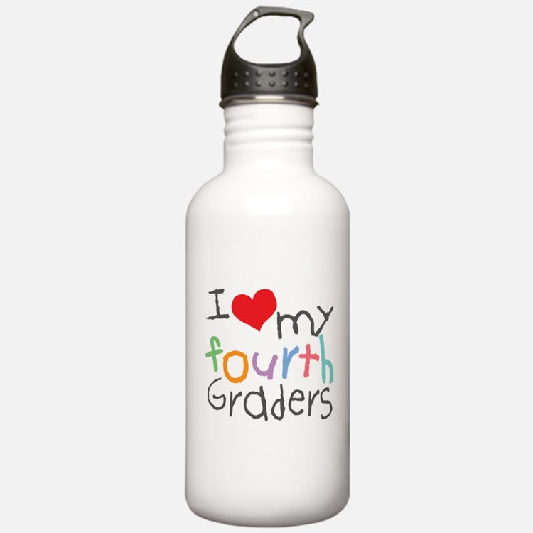 I Love My 4th Graders Water Bottle