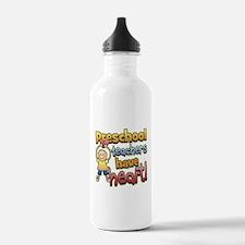 Preschool Teacher Heart Water Bottle