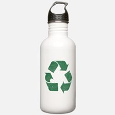 Vintage Green Recycle Sign Water Bottle