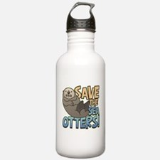 Save Sea Otters Water Bottle