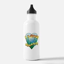 I Love Manatees Water Bottle