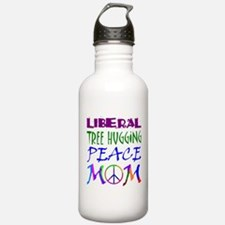 LIBERAL PEACE MOM Water Bottle