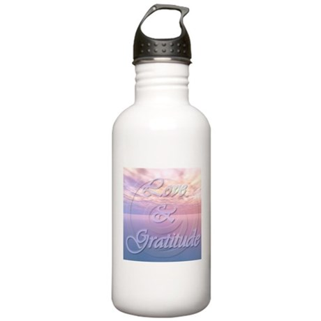 - Love and Gratitude Stainless Water Bottle 1.0L