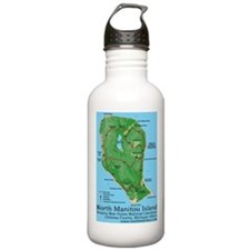 North Manitou Island Map - Water Bottle Water Bottle
