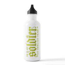 My Solder My Hero My Heart Water Bottle