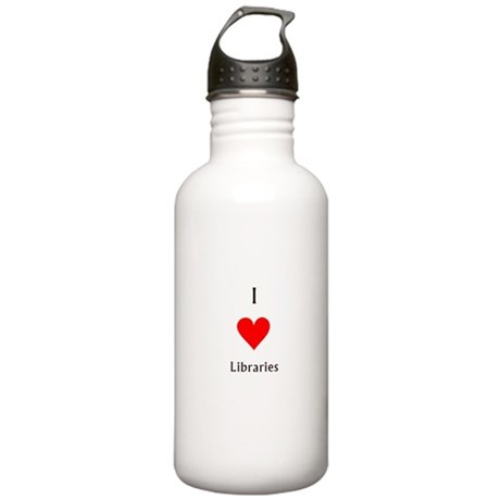 i love libraries Stainless Water Bottle 1.0L