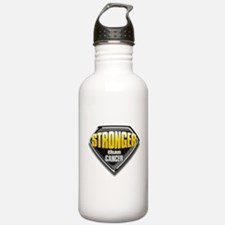 Stronger than cancer Sports Water Bottle