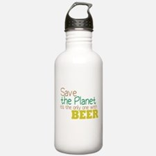 Only Planet with Beer Water Bottle
